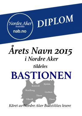 Bastionen er Årets Navn 2015 i Nordre Aker. (www.nab.no)